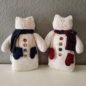 Santa's Workbench Adorable Winter Snow Cats NWT